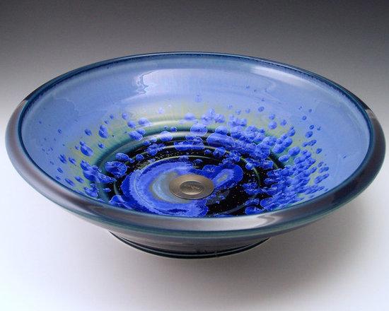 SOHO-sky crystal - Soho Sky Crystal vessel mount sink. Hand crafted by Indikoi Sinks New London, NH.