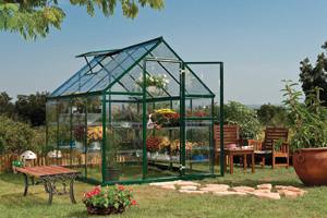 Harmony 6' X 8' Hobby Greenhouse - Green contemporary-greenhouses
