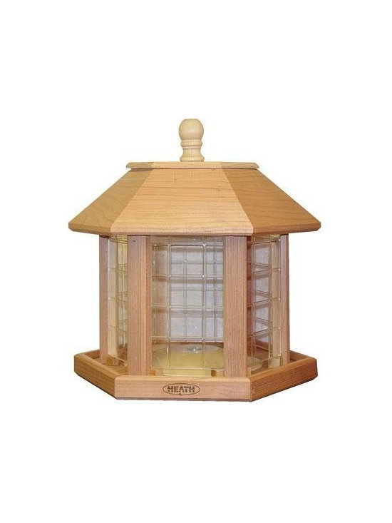 Heath - Le Grande Gazebo Feeder - Le Grande Gazebo Feeder (Cedar)- Holds up to 20lbs of seed. Comes fully assembled. Quality in every detail makes Heath Bird Feeders a perfect addition to every backyard! Fill with Premium mixed or all-sunflower seed.