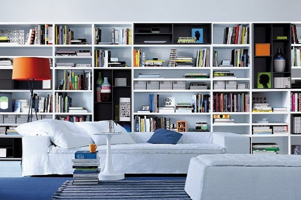 Custom Library - Modern - Display And Wall Shelves - other metro - by ...