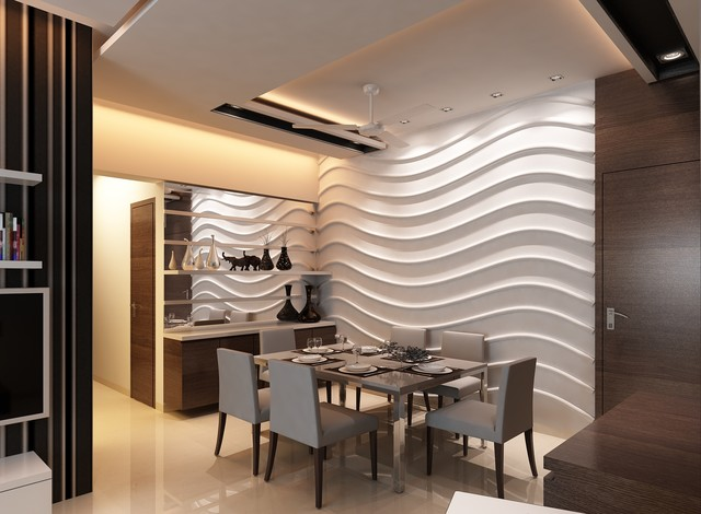 High End Residential Interior Design Project At Borivali Contemporary Dining Room Other