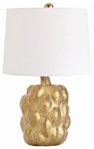 Arteriors Verner Matte Gold Porcelain Accent Lamp contemporary-lamp-shades