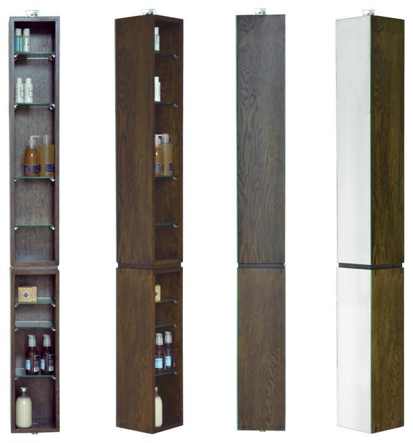 Wireworks Dark Oak Mezza Revolve 1520 Bathroom Cabinet - Modern - Medicine Cabinets - by Heal's
