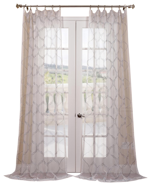 ... Sheer Curtain - Contemporary - Curtains - by Half Price Drapes