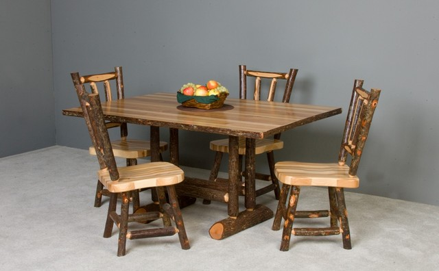 Hickory Table and Chairs traditional-dining-tables