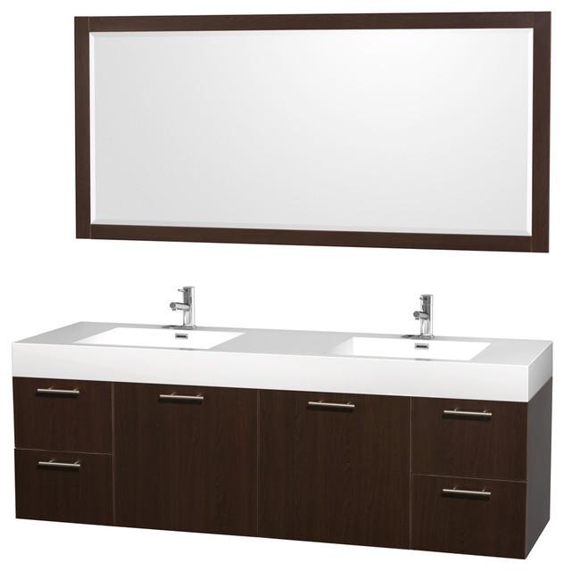 sink vanity w acrylic resin top modern bathroom vanities and sink