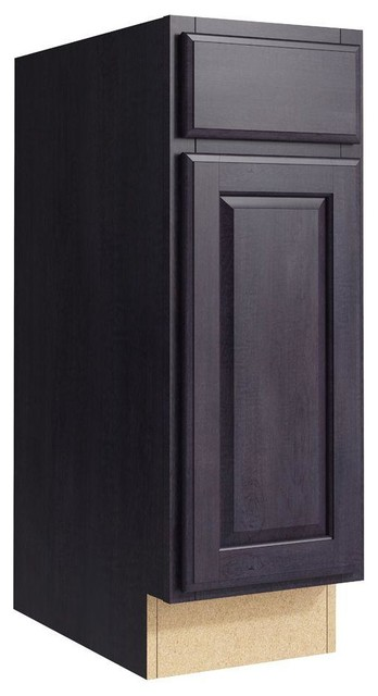 Cardell Cabinets Salvo 12 In W X 34 In H Vanity Cabinet Only In Ebon Smoke Contemporary