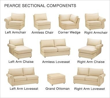 Pearce Upholstered Armless Chair, Down-Blend Wrap Cushions, Brushed Canvas Honey traditional-accent-chairs