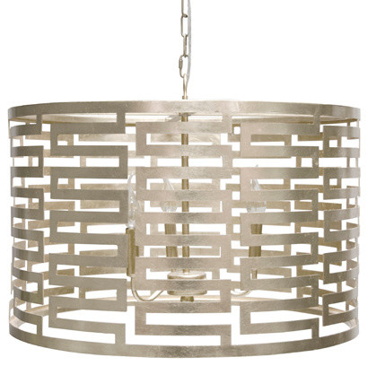 Worlds Away Nova Silver leaf Pendant lamp modern-chandeliers
