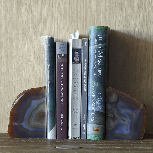 Agate Bookends traditional-bookends