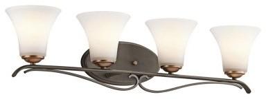 Kichler Claridge Court 45988OZ Vanity - 31.5 in. - Olde Bronze modern-bathroom-lighting-and-vanity-lighting