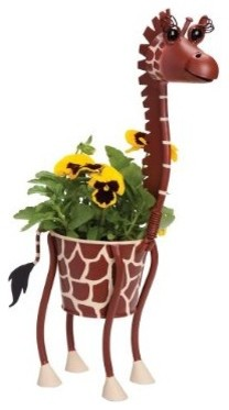 Mini Giraffe Animal Planter eclectic-indoor-pots-and-planters