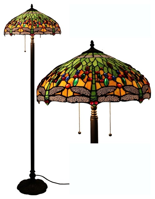 tiffany style dragonfly floor lamp contemporary floor lamps by. Black Bedroom Furniture Sets. Home Design Ideas