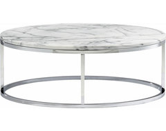 Smart Round Marble Top Coffee Table modern-coffee-tables