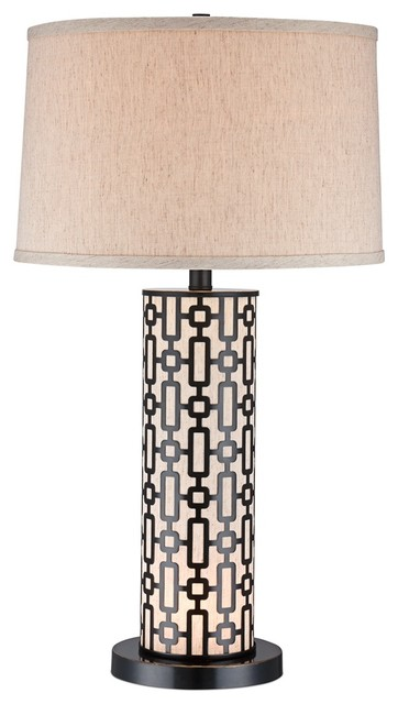 cylinder bronze night light table lamp contemporary table lamps. Black Bedroom Furniture Sets. Home Design Ideas