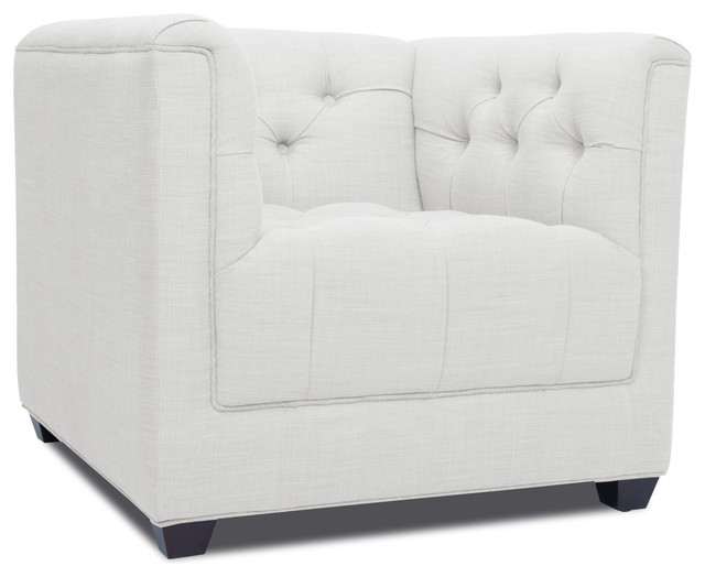 Grand White Deluxe Arm Chair modern-living-room-chairs