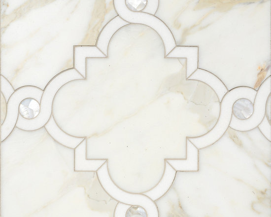 Stone Mosaic - Atticus stone mosaic is at home whether in a traditional or more modern setting. Graceful curves add elegance to any floor or wall application.