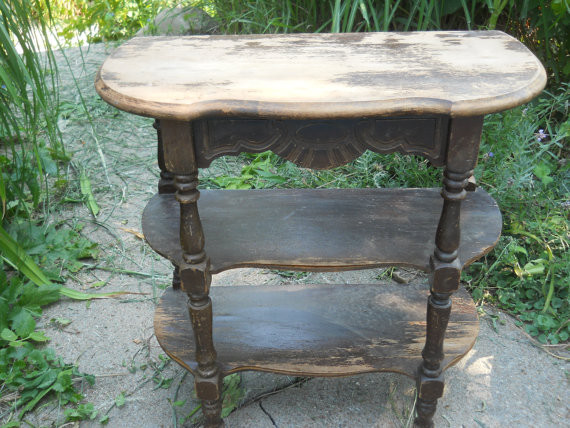 Vintage Victorian Shabby Chic Side Table by Staircase to the Attic traditional-side-tables-and-end-tables
