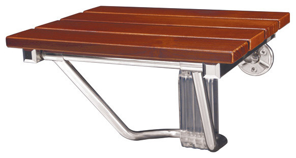 DreamLine Natural Teak Folding Shower Seat contemporary-shower-benches-and-seats