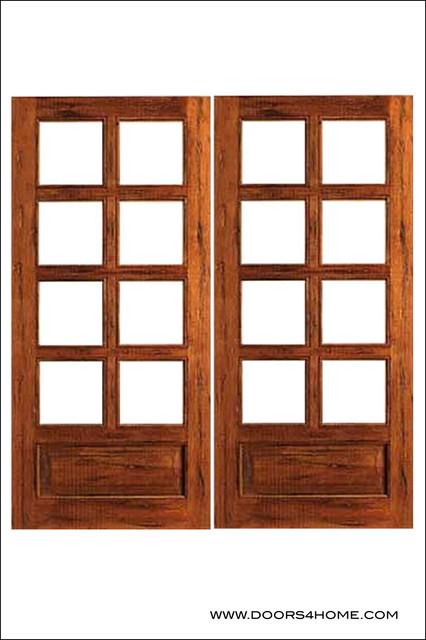 French Doors Model Rustic 8 Lite Pb Mediterranean Patio Doors By Doors4home