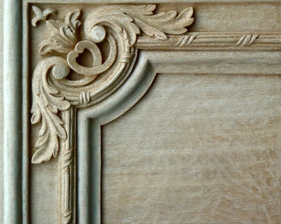 Doors - Agrell Architectural Carving - hand carved detail French door panel