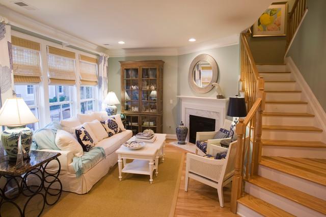 Beachy Elegance Living Room transitional-living-room