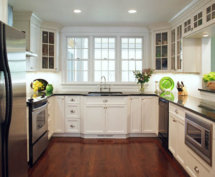 White Painted Kitchen Traditional Kitchen Cabinetry New York