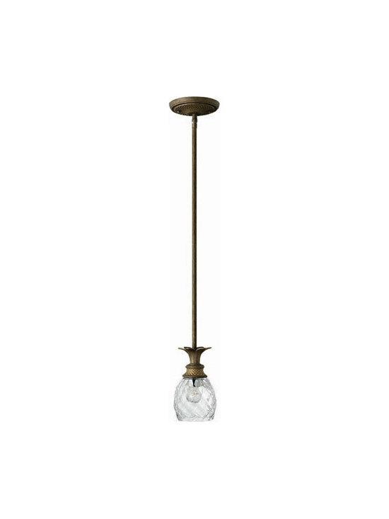 Hinkley Lighting 5317PZ Mini-Pendant Plantation Collection -