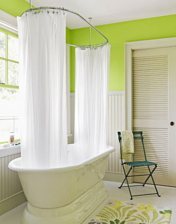 Curtains Ideas claw foot tub shower curtain : How do I correct a Drop In Bathtub leakage?