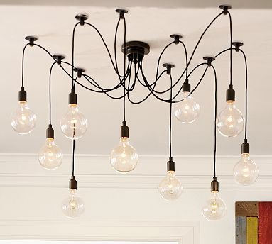 Edison Chandelier | Pottery Barn eclectic-chandeliers