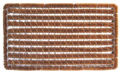 Imports Unlimited Rectangle Stripes 16 x 27 Boot Scraper Doormat contemporary-doormats