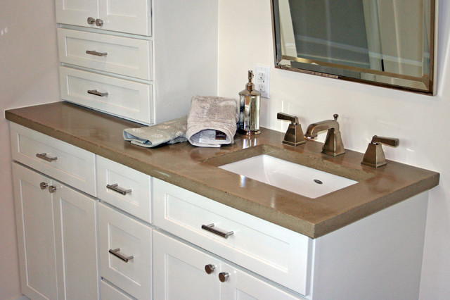 Concrete Bath Sinks Modern Vanity Tops And Side Splashes Minneapolis