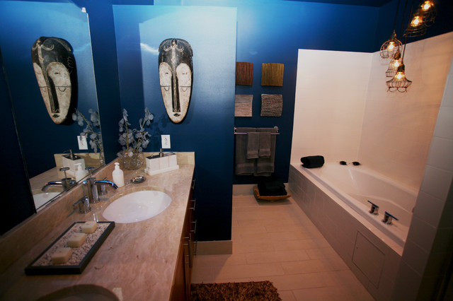 Silo Point Model Home eclectic-bathroom