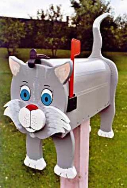 Decorative Cat mailboxes modern-mailboxes