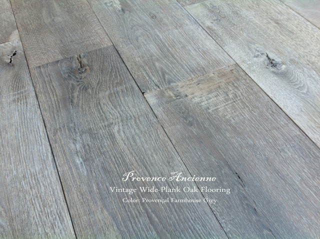 Provence Ancienne Wide Plank Oak Flooring Mediterranean
