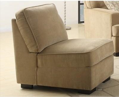 Emerald Home Furnishings U4100-15-09 Raveena Matching Armless Chair - Sand modern-armchairs-and-accent-chairs