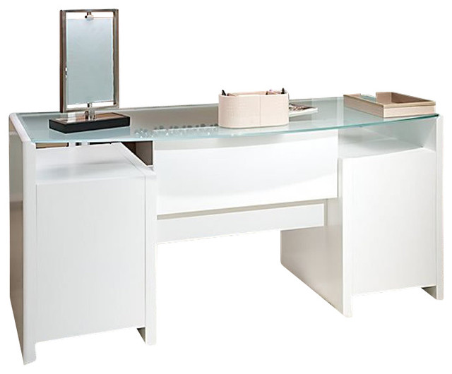 kathy ireland by bush new york skyline bow front desk in