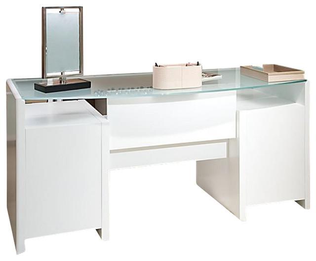 kathy ireland by bush new york skyline bow front desk in