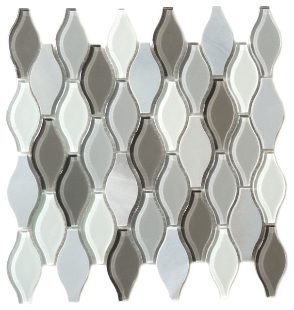 Seagull Polar Grey Unique Seagull Series Glossy and Frosted Glass and Stone modern-tile
