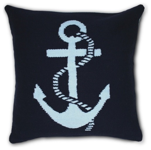 Jonathan Adler Needlepoint Anchor Pillow modern pillows
