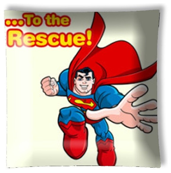 Superman to the Rescue Retro Ceiling Light eclectic-ceiling-lighting