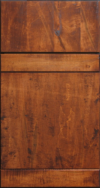 Wormy Maple Rough-Sawn Custom Cabinet Door - other metro - by Style ...