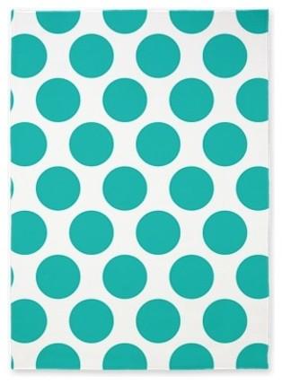 Turquoise Polka Dot Area Rug By Zandiepants Home Decor