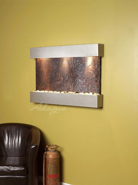 Slate Wall Mounted WatSlate Wall Mounted Water Features - The Sunriseer Features contemporary-indoor-fountains