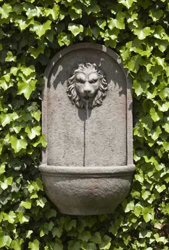 Romana Lion Wall Fountain traditional outdoor fountains