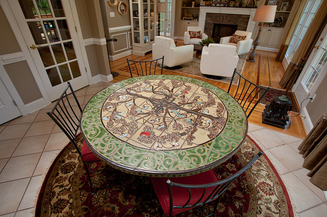custom tile breakfast table eclectic dining room other metro