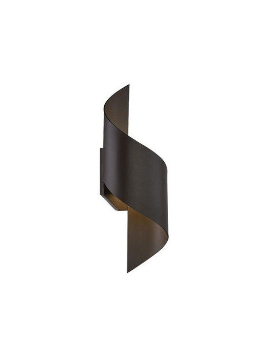 WAC Modern Forms - WAC Modern Forms | Helix 17 Inch LED Outdoor Wall Light - Design by Modern Forms.The Helix 17 Inch LED Outdoor Wall Light is sleek and commanding. The dramatic curves and contours define the graceful design. Features both up and down lighting. Available in graphite or bronze finishes.