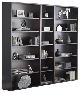 2000 series 3 pc 6 shelf bookcase unit bauhaus look. Black Bedroom Furniture Sets. Home Design Ideas