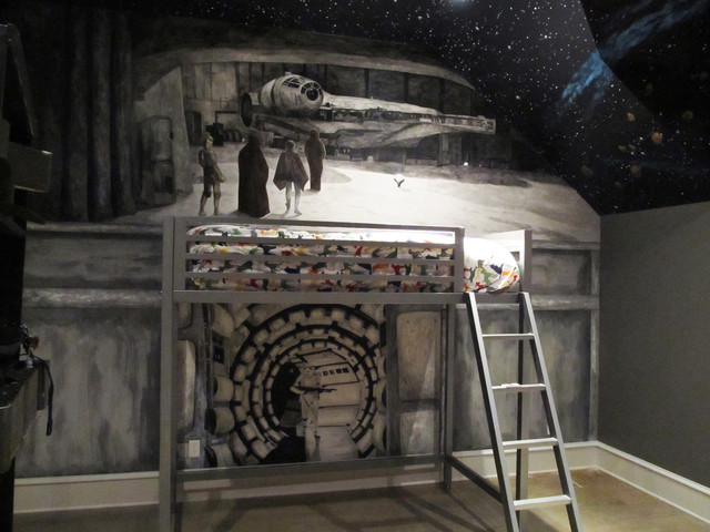 Star wars murals traditional minneapolis by walls of Star wars bedroom ideas