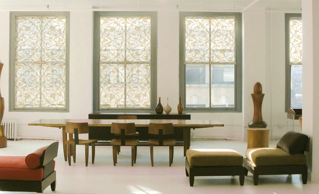 contemporary dining room by Delia Shades
